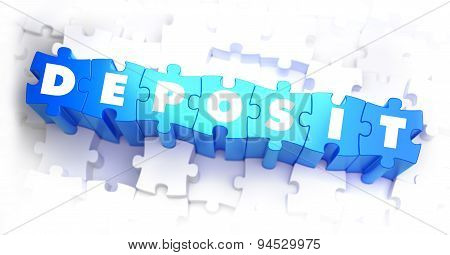 Deposit - White Word on Blue Puzzles.