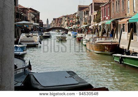 Water street (canal) in Murano island