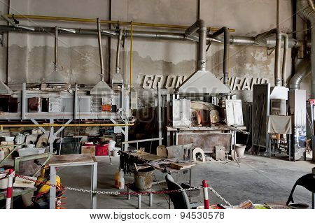 Glass workshop in Murano island