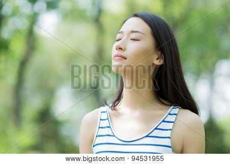 Girl Breathing