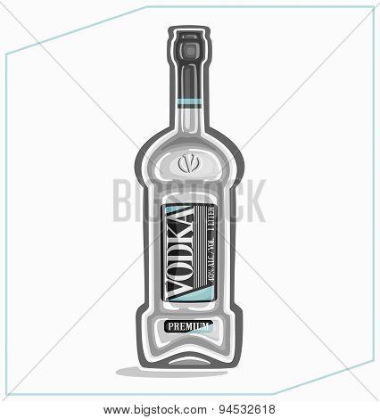 Vodka in the bottle