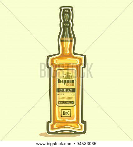 Tequila in the bottle