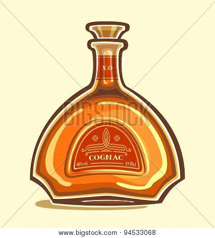 Cognac in the bottle