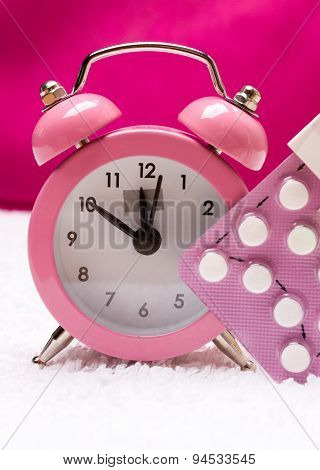 Alarm Clock And Contraceptive Pills