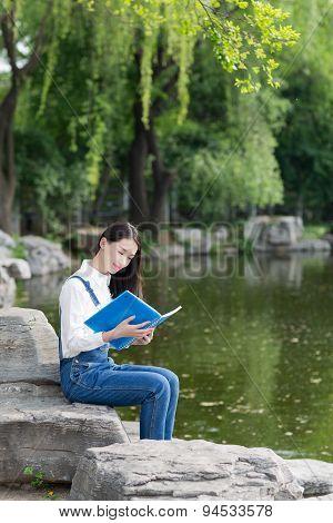 Beautiful Girl In Lake