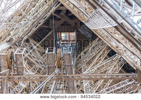 Detail View Of Eiffel Tower