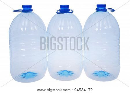 Three Big Bottles Of Water (clipping Path)