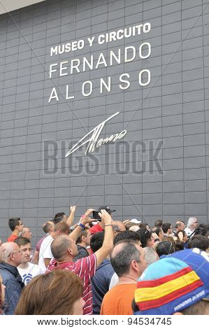 Inauguration Museum Of F1 Driver Fernando Alonso