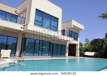 Swimming Pool At The Modern Luxury Resort Villa, Belek, Turkey