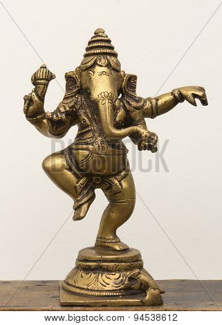 Bronze Statue Of Dancing Lord Ganesha.