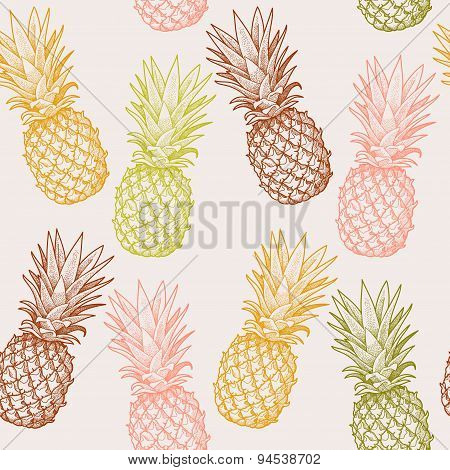 Seamless pineapple