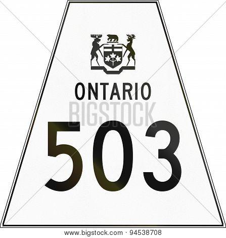 Ontario Highway Shield 503