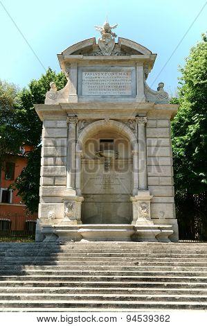 Ponte Sisto Fountain Rome, Italy