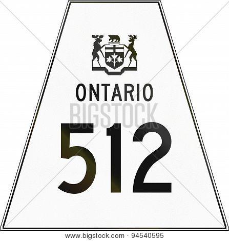 Ontario Highway Shield 512