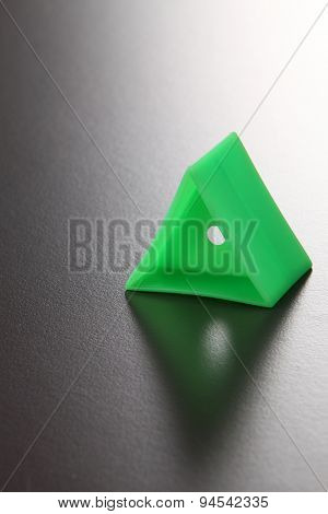 Triangle shape of the plastic block