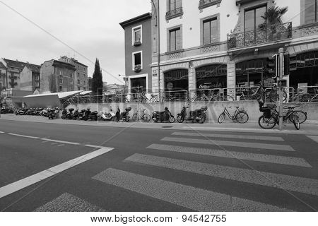 GENEVA - SEP 11: area near train station in city center on September 11, 2014 in Geneva, Switzerland. Geneva is the second most populous city in Switzerland and is the most populous city of Romandy