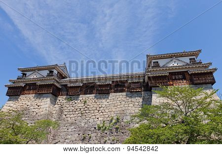 North And South Corner Turrets Of Matsuyama Castle, Japan