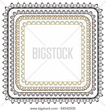 Vector Set Of Seamless Brown Frames