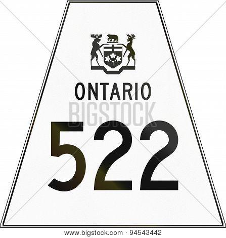 Ontario Highway Shield 522