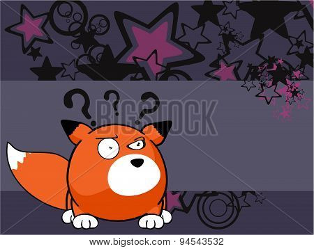 fox baby ball cartoon postal