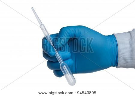 Hand With A Pasteur Pipette