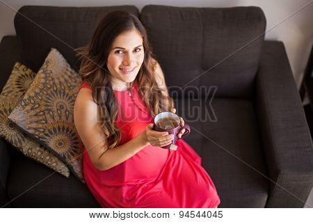 Pregnant Woman Drinking Tea