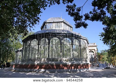 Crystal Pavilion In The Retiro Park, Madrid