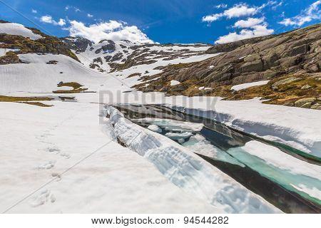 Folgefonna frozen lake