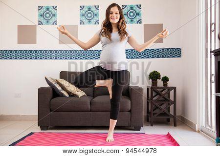 Pregnant Mom Loves Doing Yoga