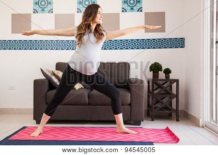 Warrior Yoga Pose And Pregnant