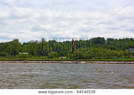 Waterfront landscape at National Harbor Maryland USA.