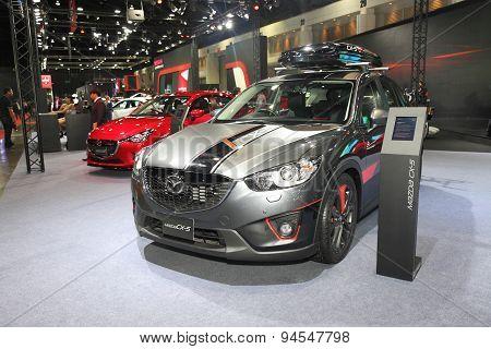 Bangkok - June 24 : Mazda Cx-5 Car On Display At Bangkok International Auto Salon 2015 On June 24, 2