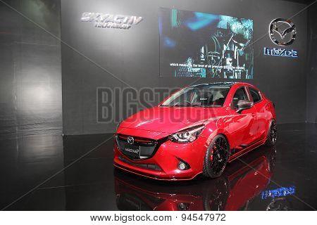 Bangkok - June 24 : Mazda2 Car On Display At Bangkok International Auto Salon 2015 On June 24, 2015