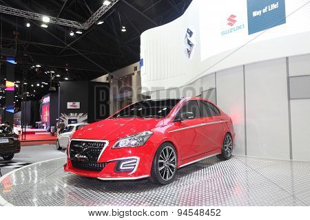 Bangkok - June 24 : Suzuki Ciaz Car On Display At Bangkok International Auto Salon 2015 On June 24,