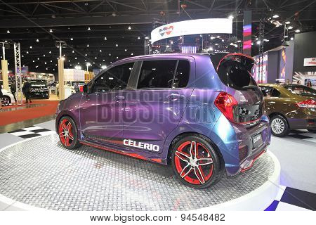 Bangkok - June 24 :side Of  Suzuki Celerio Car On Display At Bangkok International Auto Salon 2015 O