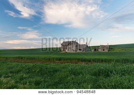 Abandoned House At Dusk