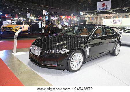Bangkok - June 24 : Jaguar Xf Car  On Display At Bangkok International Auto Salon 2015 On June 24, 2