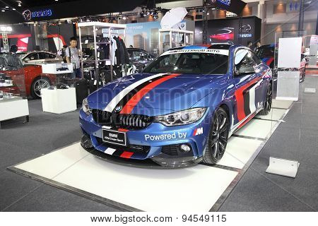 Bangkok - June 24 : Bmw 420D Coupe Sport Car On Display At Bangkok International Auto Salon 2015 On