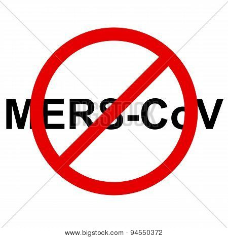 Stop Mers Corona Virus sign.  Vector Illustration.