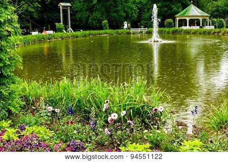 Castle Garden with lake in Ludwigsburg, near Stuttgart, Germany