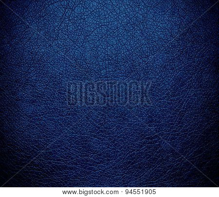 Dark cerulean leather texture background