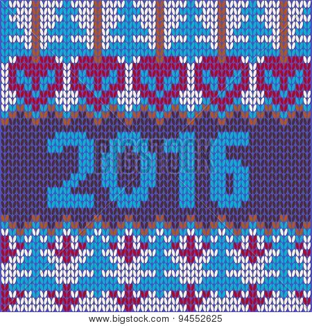 New Year With Knitted Texture Christmas