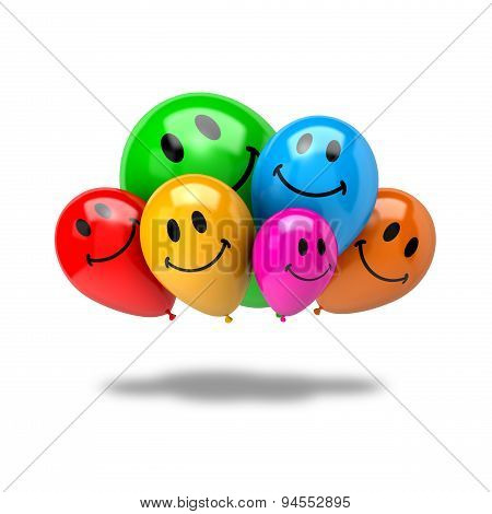 Bunch Of Smiling Balloons