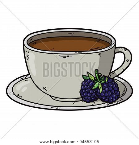Tea cup blackberry