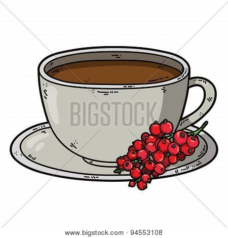Tea cup red currant