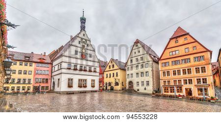 Marktplatz - The Main Square Of Rothenburg Ob Der Tauber