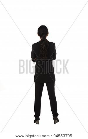 Asian Business Woman Standing Backview