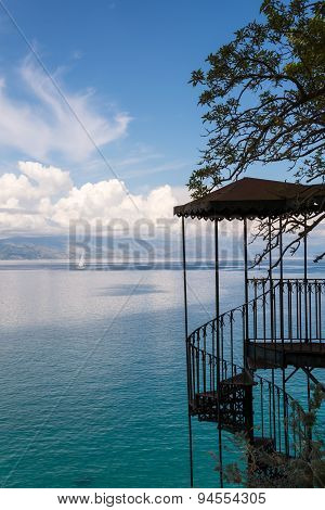 View Of Staircase,corfu,greece