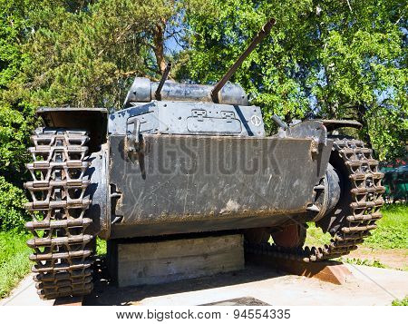 Easy tank Panzerkampfwagen II (Pz.Kpfw II), Germany, 1935-1943. Front view