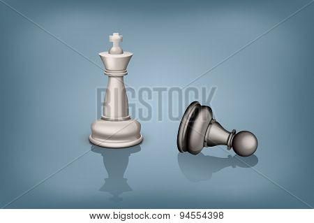 chess king pawn